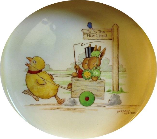 bunnykins Chicken Pulling a Cart sf8