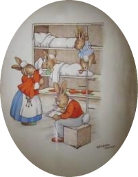 Bunnykins Bedtime in Bunks Style One Design