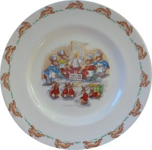 Bunnykins Toast for Tea Today Plate