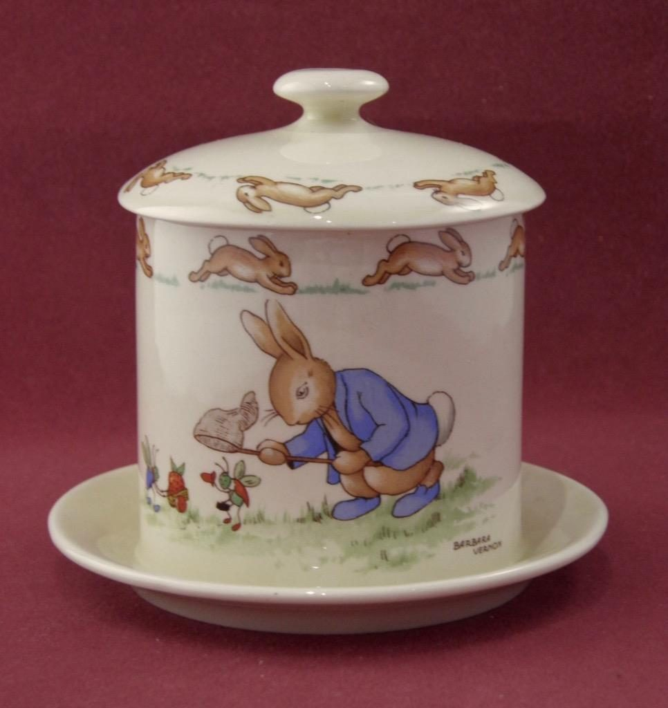 Rare Jam Pot featuring Netting a Cricket and Dunce side 1