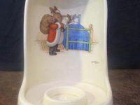 Bunnykins Santa Claus Candle Holder