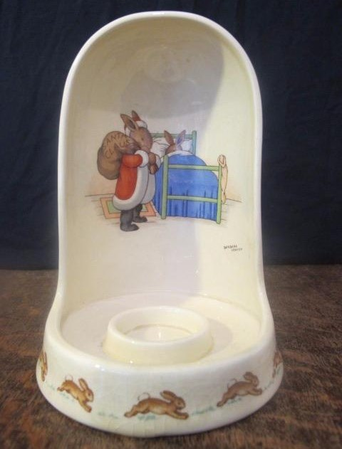 Bunnykins Santa Claus Candle Holder