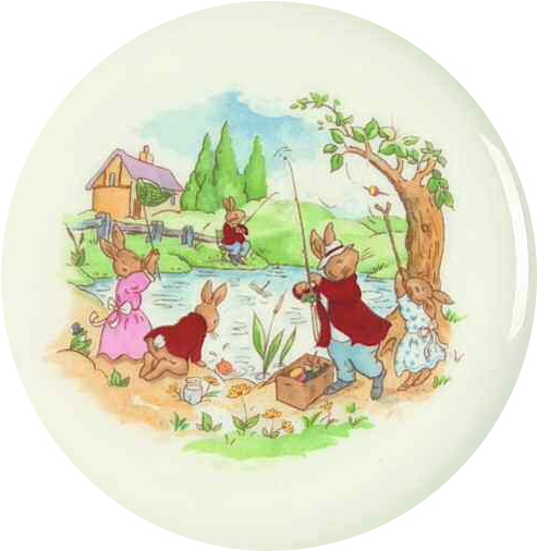 Fishing at the Pond Bunnykins Design