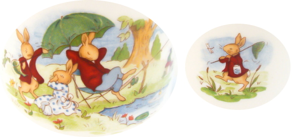 Resting by Pond and Carrying Net Bunnykins Design